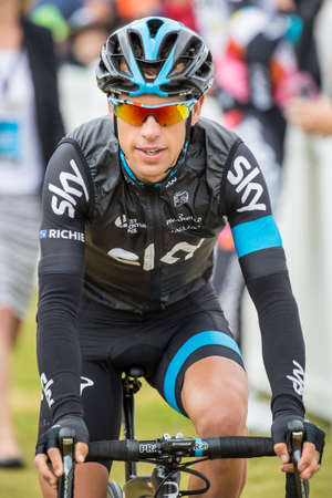 evans: MELBOURNE, AUSTRALIA - FEBRUARY 1: Richie Porte before the start of the inaugral Cadel Evans Great Ocean Road Race Editorial