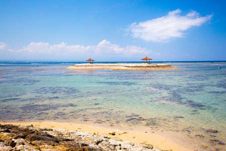 sanur: A Sanur beach scene on a hot day in Bali, Indonesia