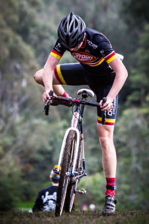 deeds: MELBOURNE, AUSTRALIA - JUNE 20: Competitors compete in Rnd 1 of the Dirty Deeds Cyclocross Series 2016