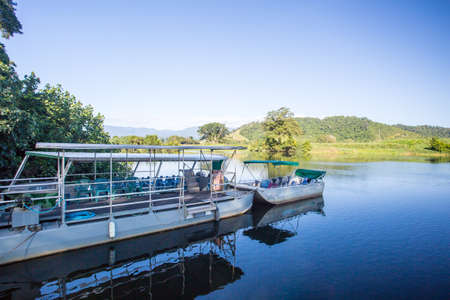 daintree: Daintree River cruises near the town of Daintree in far nth Queensland, Australia Stock Photo