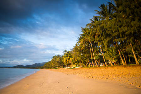 qld: The famous idyllic beachfront of Palm Cove on a winters day in Queensland, Australia