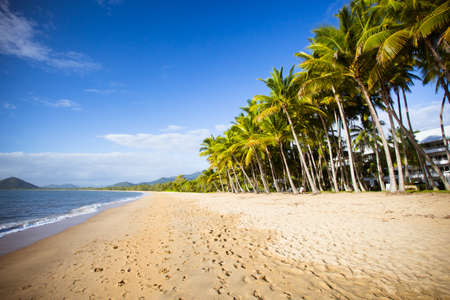 The famous idyllic beachfront of Palm Cove on a winters day in Queensland, Australia