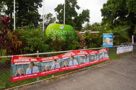 rural town: Melbourne, Australia - July 2, 2016:  A polling station in the rural town of Mossman in Queensland, Australia, on federal election day.