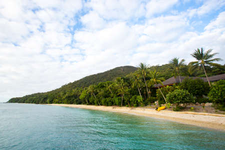 fitzroy: Fitzroy Island main beach resort area on a cool winters day in Queensland, Australia Stock Photo