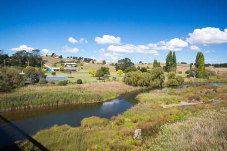 new south wales: The view over Dalgety from the Dalgety Bridge crossing over the Snowy River in New South Wales, Australia