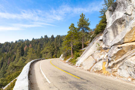 Generals Hwy thru Sequoia National Park in California, USA Stock Photo