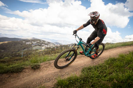 Mountain Bike Riders At Mt Buller Stock Photo Picture And Royalty