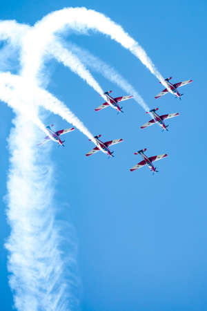 RAF Red Arrows Performing a Show