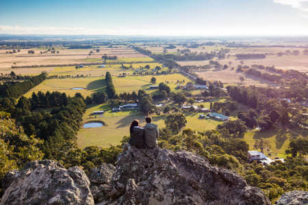 the magnificent: Hanging Rock in Macedon Ranges Stock Photo