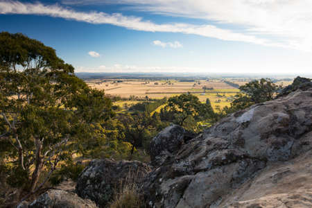 The popular tourist attraction of Hanging Rock. A volcanic group of rocks atop a hill in the Macedon ranges, Victoria, Australia Stock Photo