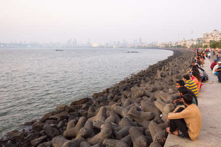 Marine Drive in Mumbai Editorial