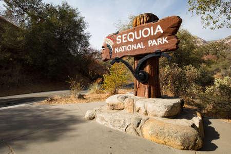 sequoia: Sequoia National Park Entrance Stock Photo