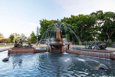 Sydney Hyde Park Archibald Fountain Stock Photo