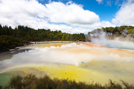 Wai-O-Tapu Geological feature 写真素材