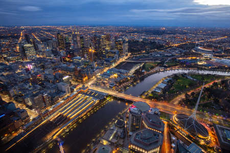 Melbourne Aerial View at Night