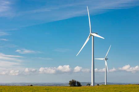 Bass Coast Windpark Stockfoto