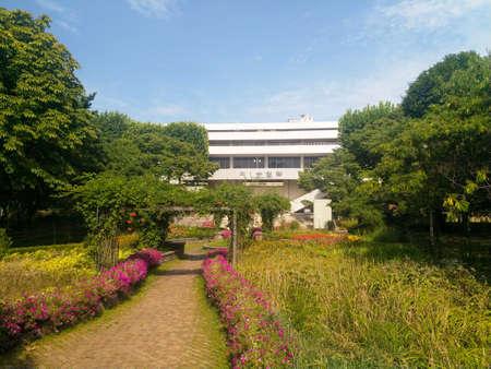 SEOUL, SOUTH KOREA - AUGUST 19, 2018: The Seoul Olympic swimming centre, is a multi-purpose venue in Seoul, South Korea