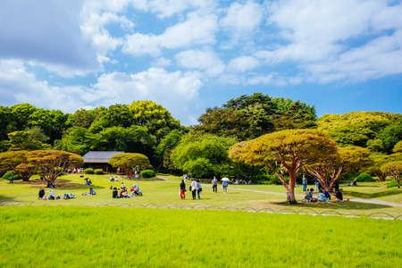 Shinjuku Gyo-en is a large park and garden in Shinjuku and Shibuya, Tokyo, Japan.