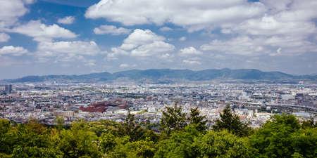 View over Kyoto from Fushimi Inari Shrine