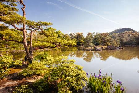 Kinkakuji Temple or The Golden Pavilion in Kyoto, Japan Stock Photo