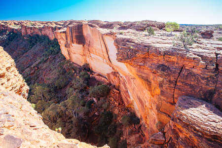 The incredible rock geology of Kings Canyon in the Northern Territory, Australia