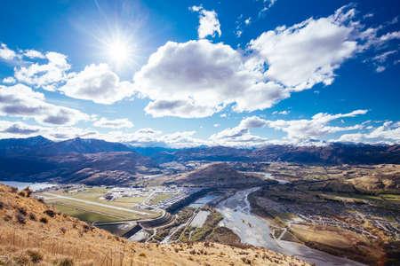 View over Queenstown New Zealand