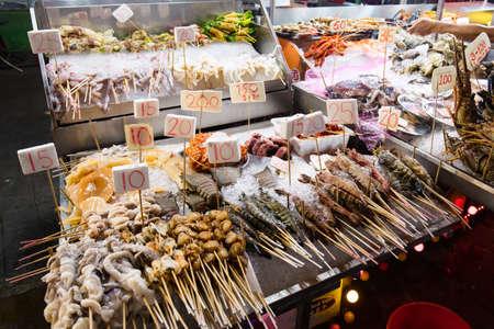 Jalan Alor Street Food Market Kuala Lumpur Malaysia Stock Photo