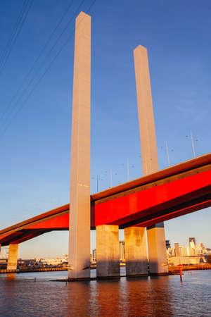 The Bolte Bridge crossing the Yarra River at sunset in Melbourne, Victoria, Australia
