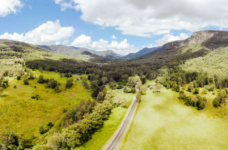 Landscape around Numinbah in Australia