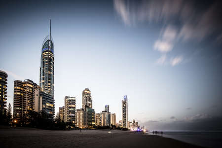 Broadbeach in Gold Coast Australia Stock Photo