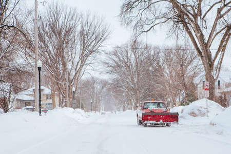 Snow Covered Streets Fargo USA