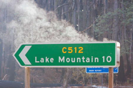 Lake Mountain after Black Saturday Fires in Australia