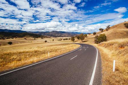Australian Road Scene near Snowy Mountains