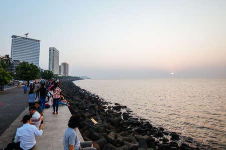 Marine Drive Life in Mumbai India