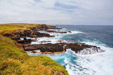菲利普岛的Nobbies景观