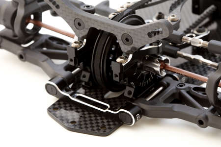 RC Car Chassis and Parts Stockfoto
