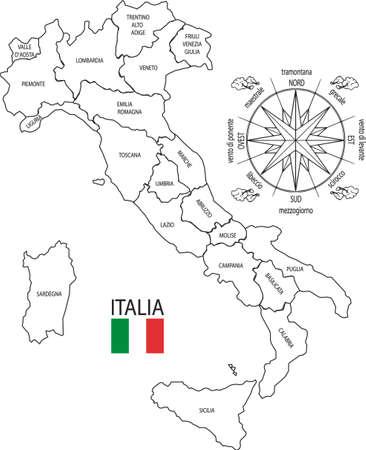 puntos cardinales: Italia