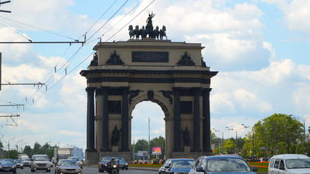 Moscow, Russia - July 16, 2017: Triumphal Arch in Moscow