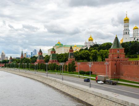 Embankment of the Moscow Kremlin.