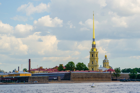 Peter and Pavel Fortress and Neva River. Russia