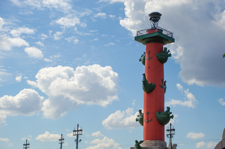 Rostral column in St. Petersburg. Russia