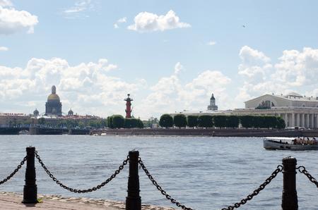 Panoramic view of St. Petersburg with Sachigo Islands, the arrow of Vasilevsky island