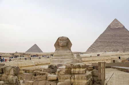 The Great Sphinx of Giza, commonly referred to as the Sphinx of Giza or just the Sphinx. Egypt Stockfoto