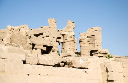 Ancient Ruins at Karnak Temple in Luxor. Egypt Stockfoto