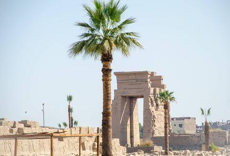 Ruins at Karnak Temple in Luxor. Egypt