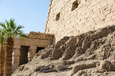 Architecture at Karnak Temple in Luxor. Egypt