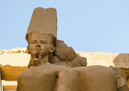 Sculpture at Karnak Temple in Luxor. Egypt Stockfoto