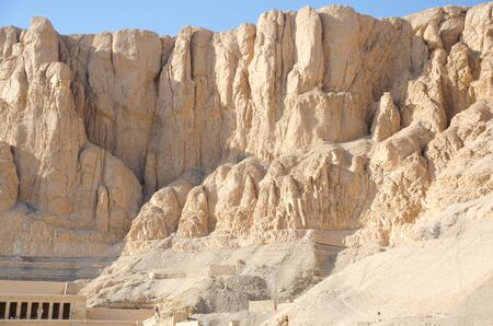 Mountains near Temple of Hatshepsut, Luxor Egypt Stockfoto