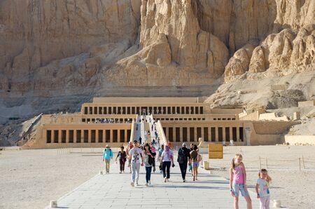 Luxor, Egypt - January 16, 2020 : Temple of Hatshepsut, Luxor