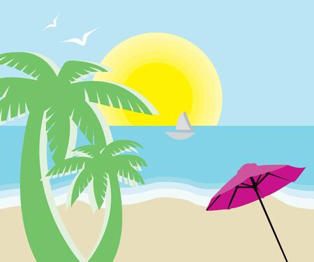 Summer beach Stock Vector - 9722154